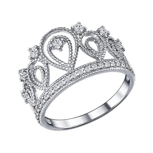 Серебряное кольцо с фианитом SOKOLOV (94011215)