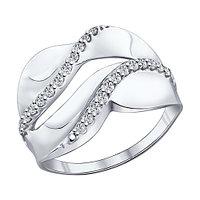 Серебряное кольцо с фианитом SOKOLOV (94011846)