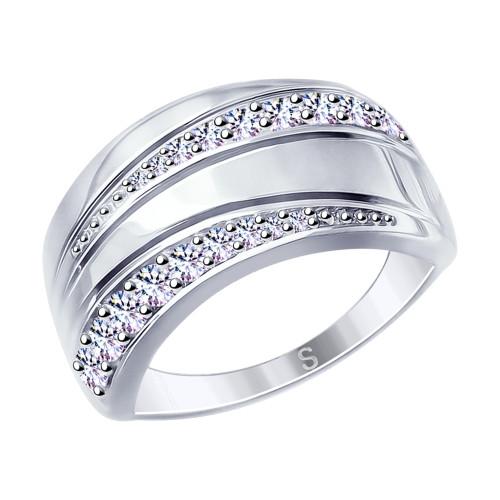 Серебряное кольцо с фианитом SOKOLOV (94012631)