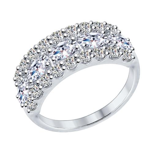Серебряное кольцо с фианитом SOKOLOV (94012222)