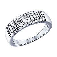 Серебряное кольцо с фианитом SOKOLOV (94011537)