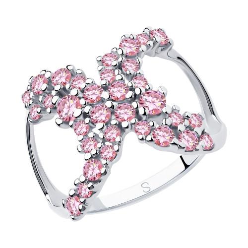 Серебряное кольцо с фианитом SOKOLOV (94013038)