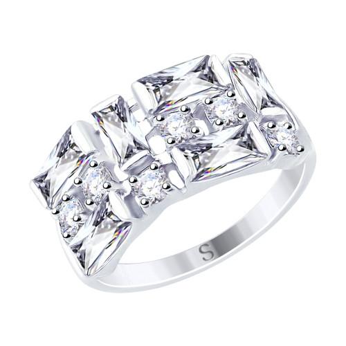 Серебряное кольцо с фианитом SOKOLOV (94012456)