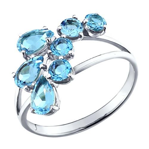 Серебряное кольцо с фианитом SOKOLOV (92010008)