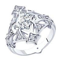Серебряное кольцо с фианитом SOKOLOV (94013088)