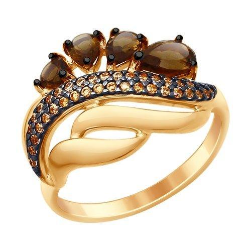 Серебряное кольцо с фианитом SOKOLOV (92011420)