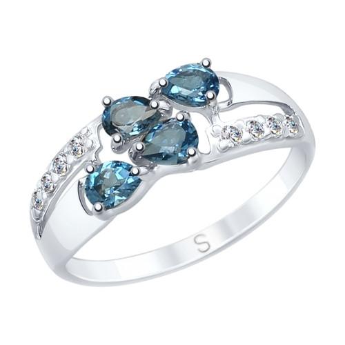 Серебряное кольцо с фианитом SOKOLOV (92011646)