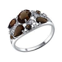 Серебряное кольцо с фианитом SOKOLOV (92010222)