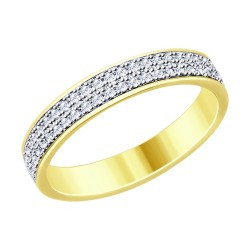 Серебряное кольцо с фианитом SOKOLOV (93010761)