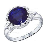 Серебряное кольцо с фианитом SOKOLOV (88010012)