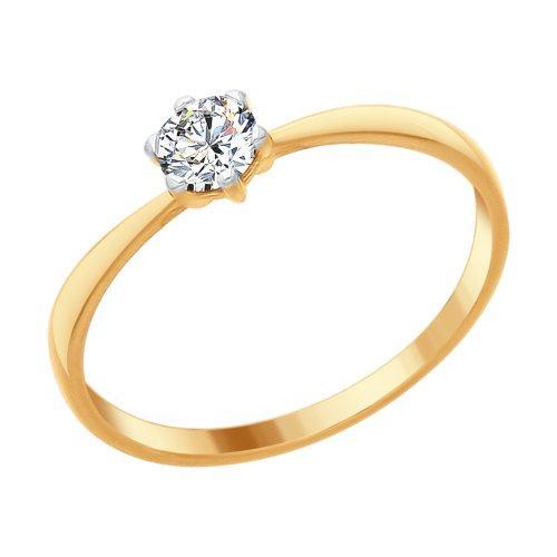 Серебряное кольцо с фианитом Swarovski SOKOLOV (89010090)