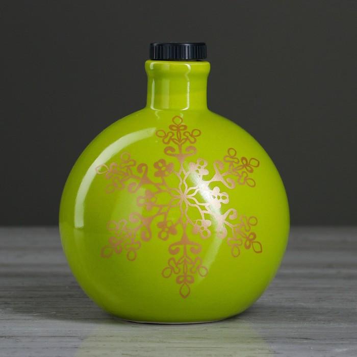 """Штоф """"Новогодний шар"""" зелёный, 0,5 л"""