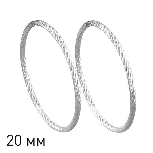 Серебряные серьги-кольца с фианитом SOKOLOV (94140013)
