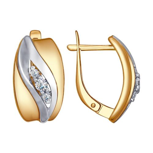 Серебряные серьги-классические с фианитом SOKOLOV (93020784)