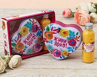 """Подарочный набор """"Все желания сбудутся"""": шкатулка-сердце+жемчуг для ванны"""