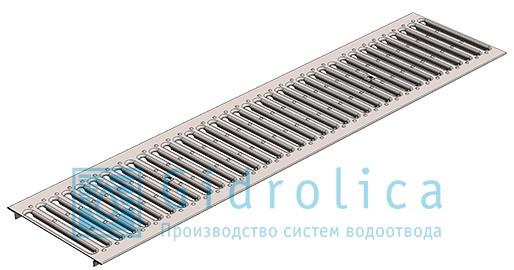 Решетка водоприемная Gidrolica Standart РВ -20.24.100 - штампованная стальная оцинкованная, кл. А15