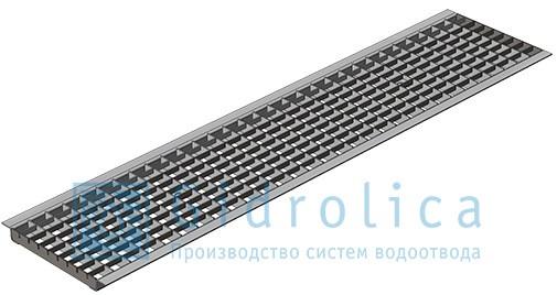 Решетка водоприемная Gidrolica Standart РВ -20.24.100 - ячеистая стальная оцинкованная, кл. А15