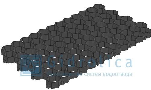 Решетка газонная РГ-70.40.3,2 пластиковая черная