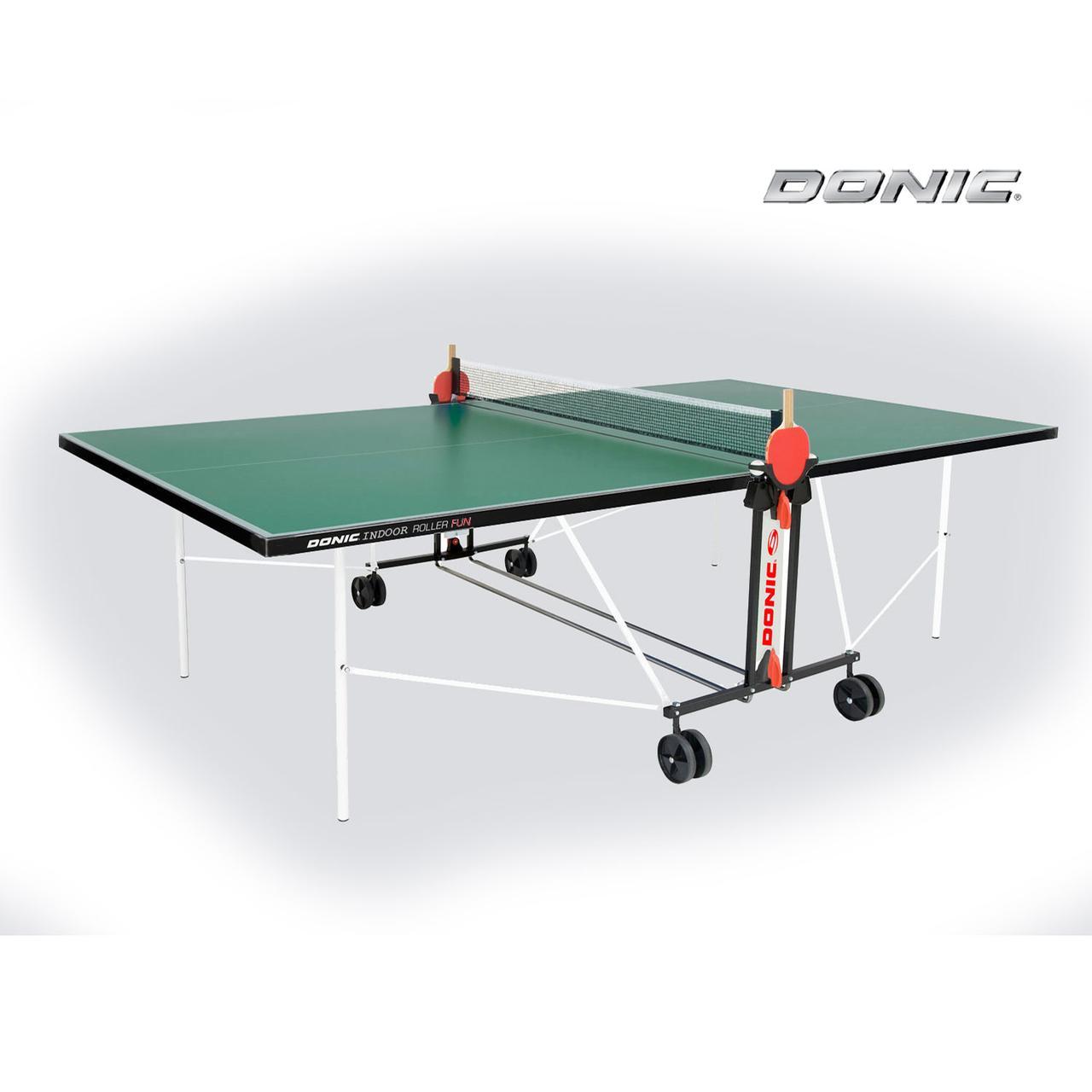 Теннисный стол DonicIndoor Roller FUN зеленый