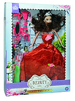 YX1011 Скидка!!! Немного мятые!! Кукла в пышном платье +3платья 32*23см