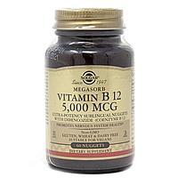 Солгар, Витамин б 12, 5000 мкг, 60 таблеток