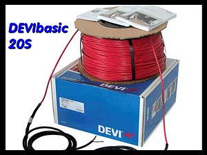 Одножильный нагревательный кабель для наружных установок DEVIbasic 20S - 63м