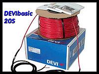 Одножильный нагревательный кабель для наружных установок DEVIbasic 20S - 74м