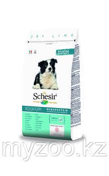 Schesir ,Шезир Dry Line Puppy Medium корм для щенков средних пород с курицей 12 кг