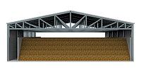 Быстровозводимое теплое овощехранилище 24Шх24Дх6В из легких металлоконструкций на 1 000тонн