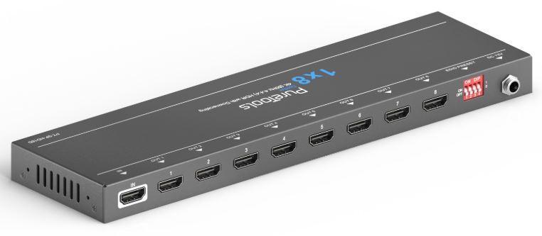 Распределитель (сплиттер) PureLink PT-SP-HD18D, 1:8 HDMI, Down-scaling 4K на FHD