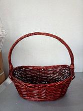 Корзина плетеная  из лозы 37 см Коричневая