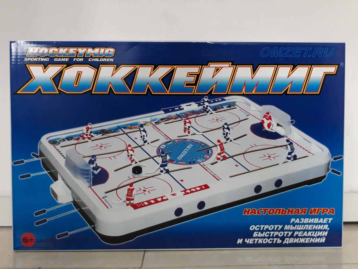 ХоккейМиг настольная игра. Производство Россия. Отличное качество. Объемные игроки.