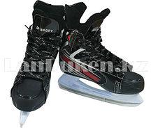 Хоккейные коньки GF-Sport (белая подошва) GF-501