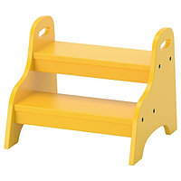 Табурет-лестница детский ТРУГЕН желтый ИКЕА, IKEA