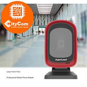 Сканер штрих-кодов Superlead 7201HS 2D, стационарный имиджевый, сканирование всех типов штрих и QR. Арт.6306