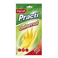 "Перчатки резиновые Paclan ""Practi.Universal"", р.М, желтые, пакет с европодвесом"