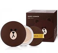 Тональная маскирующая основа-кушон Missha Line Friends Magic Cushion(Мишка) 40мл