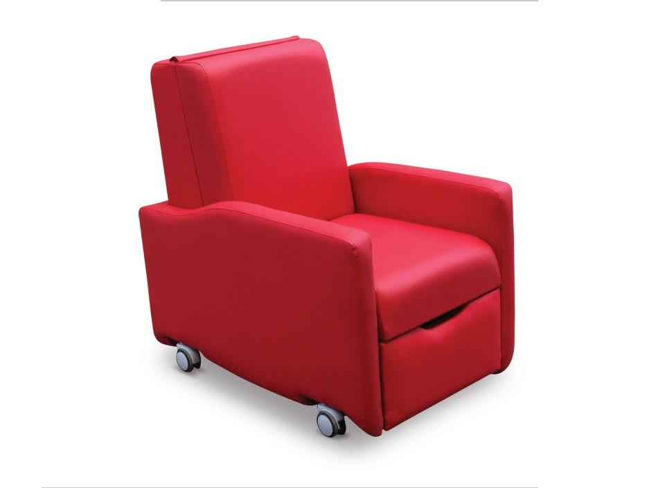 Кресло для посетителя пациента с колесиками AC 01