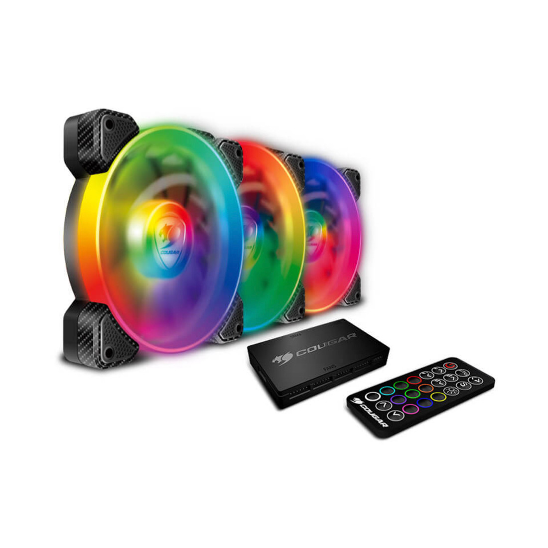 Комплект кулеров для компьютерного корпуса Cougar VORTEX SPB RGB COOLING KIT - 3 в1
