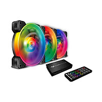 Комплект кулеров для компьютерного корпуса Cougar VORTEX SPB RGB COOLING KIT - 3 в1, фото 1