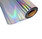 Термо флекс 0,5мх25м PU голографическое серебро метр, фото 2
