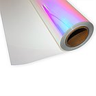 Термо флекс 0,5мх25м голографический белый метр, фото 2