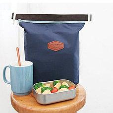 Термосумка для обедов синяя, фото 3