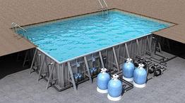 Бассейн переливной, 7*3.5*1.5м