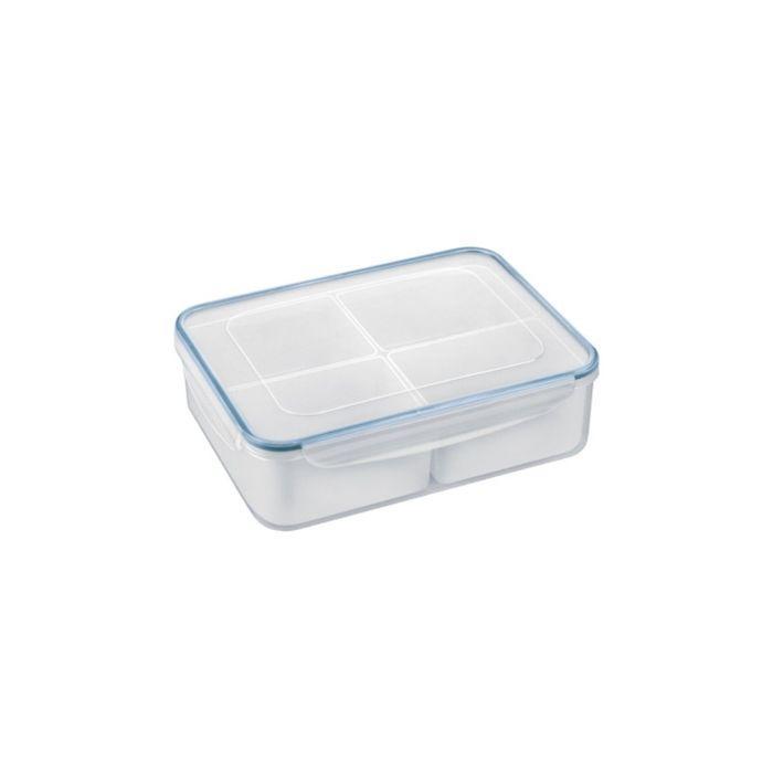 Контейнер Tescoma FRESHBOX, объём 3,7 л, прямоугольный, 4 миски