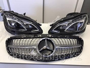 Решетка радиатора Diamond на Mercedes W212 2013-2016 ( рестайлинг)