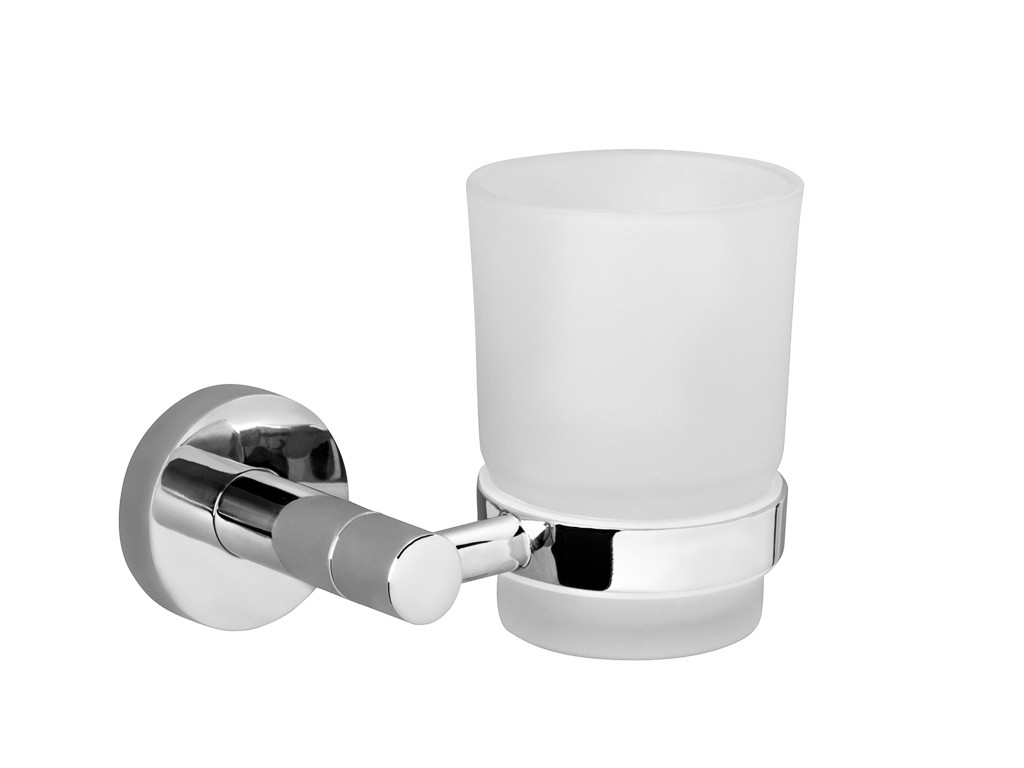 "LEMARK  ""Стандарт"" Аксессуары для ванной, стакан керам для зубных щеток с настенным держ (к/к 10) LM2136C"
