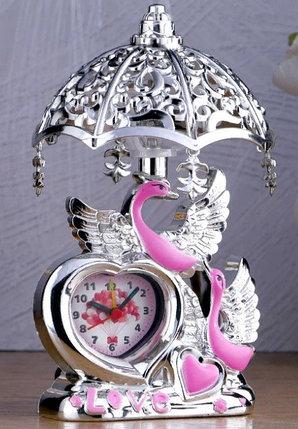 "Часы-светильник ""Лебедь"", 23х13х13 см, микс, фото 2"