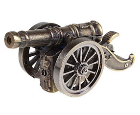 "Зажигалка настольная ""Пушка"", пьезо, газ, 10х3.5 см,"