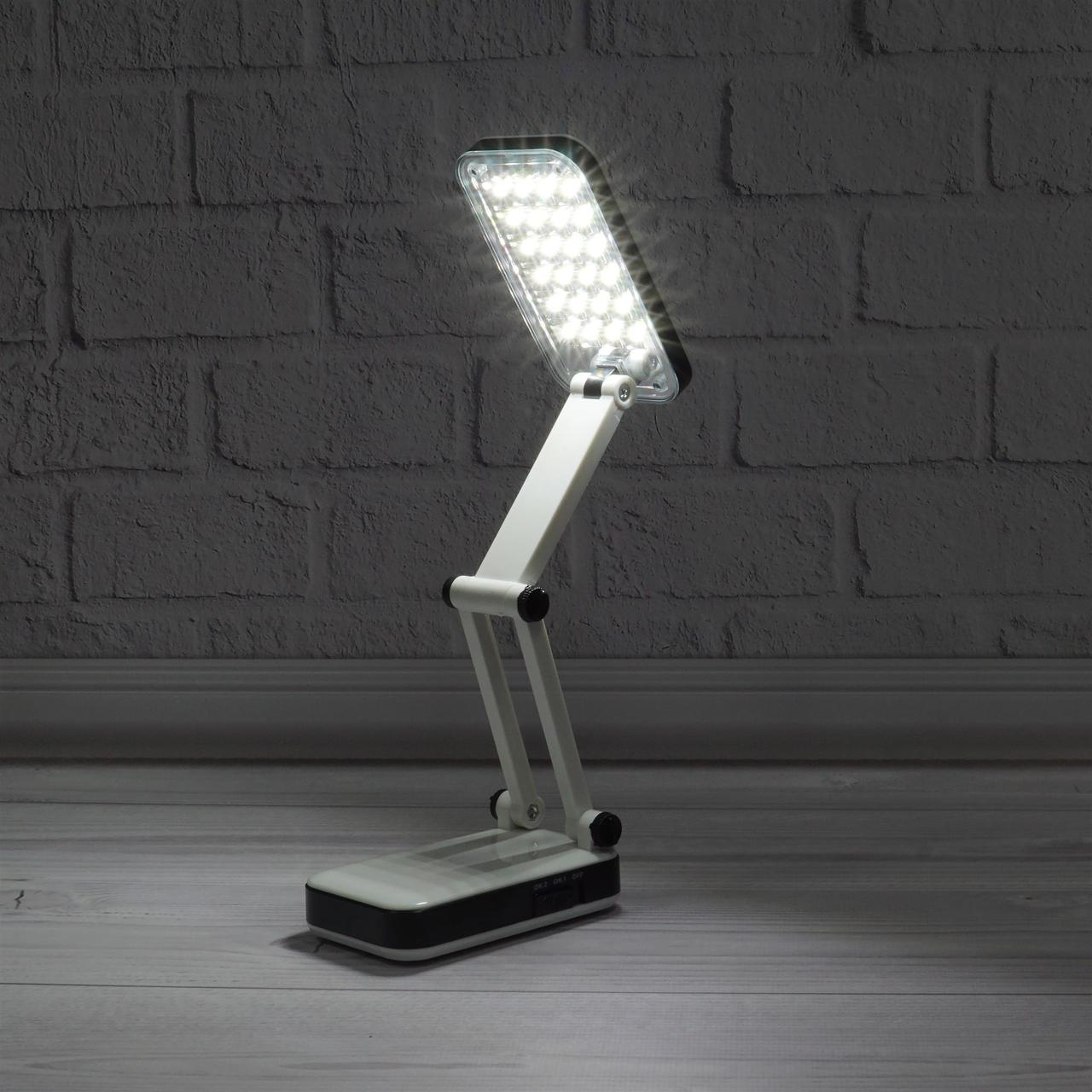 Настольная лампа трансформер 24 LED с аккумулятором - фото 7